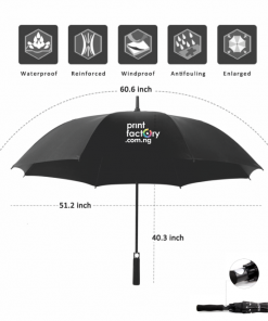 Auto Open Gold Umbrella