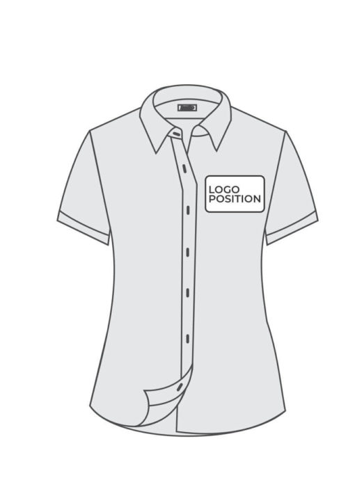 Tshirt Outline with branding position