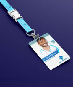Id card with lanyard